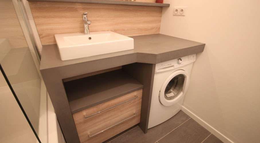 Meuble vasque avec lave linge