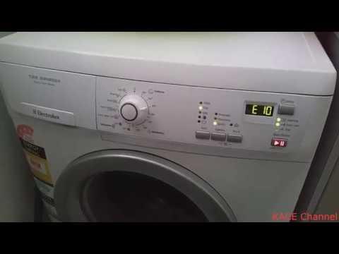 Reset lave linge electrolux