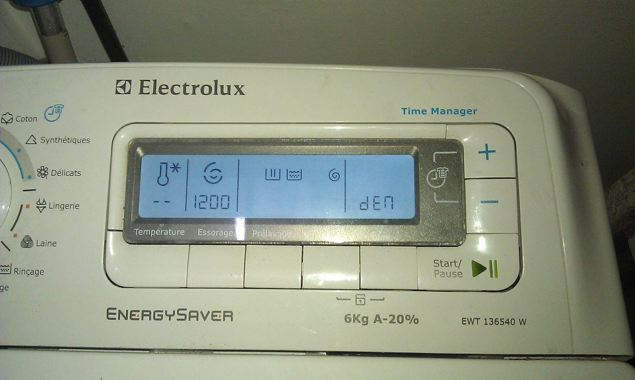 Code erreur electrolux lave linge
