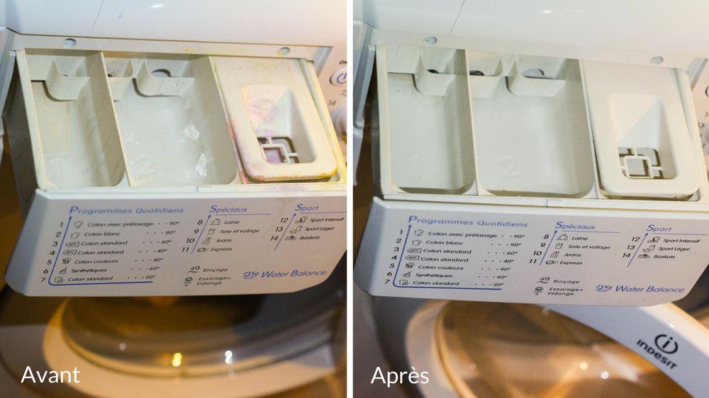 Comment nettoyer le bac à lessive d un lave linge