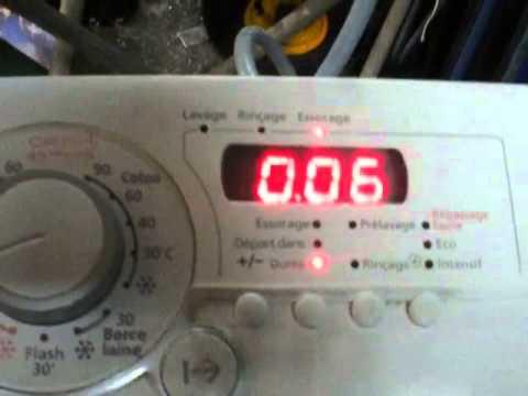 Code erreur d02 lave linge vedette